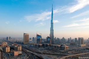 The Burj Khalifa, formerly the Burj Dubai, is the world's tallest building
