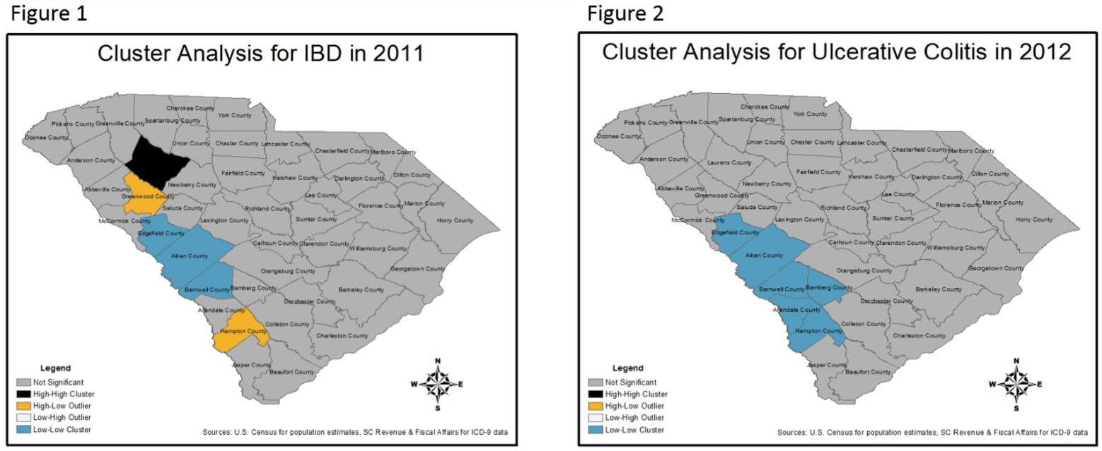 Spatial Analysis of Inflammatory Bowel Disease in South