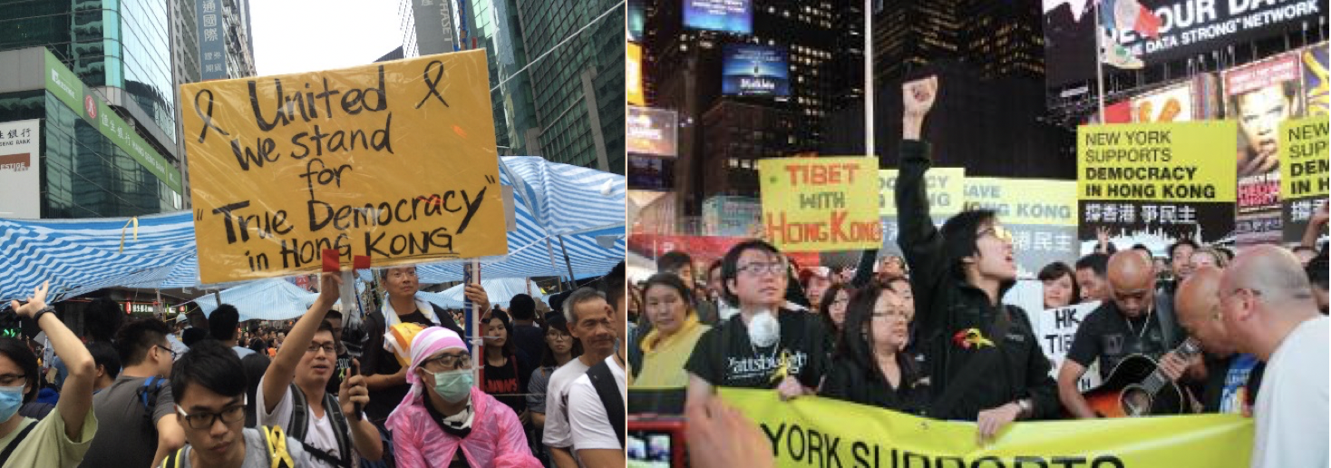 Occupy Central and Occupy Wallstreet Protests
