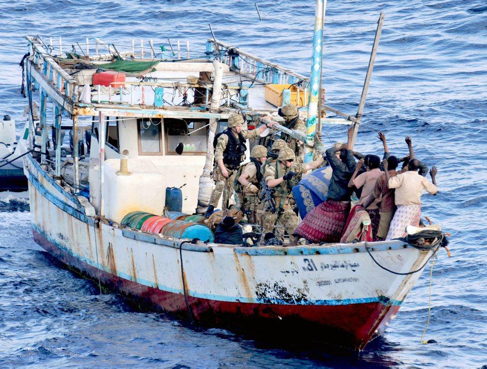 Royal marines conducting anti-piracy operations off the Somali coast
