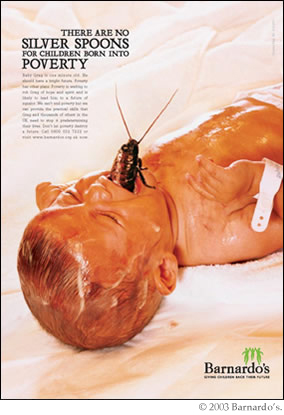 Barnardo's Cockroach Ad