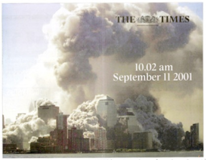 The Times Cover Page September 11, 2001