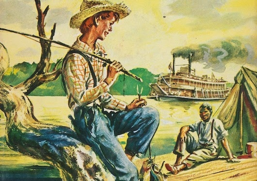 huckleberry finn life on the