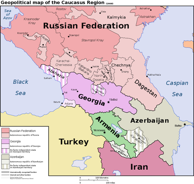 Geopolitical Map of the Caucasus