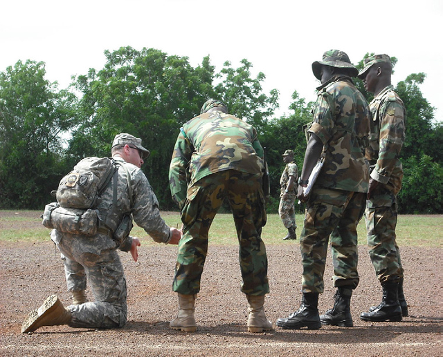 U.S. TRAINING PROGRAM WITH GHANAIAN TROOPS. THE U.S. HAS BEEN CRITICIZED FOR THE PERCEIVED MILITARIZATION OF U.S. FOREIGN POLICY TOWARD AFRICA