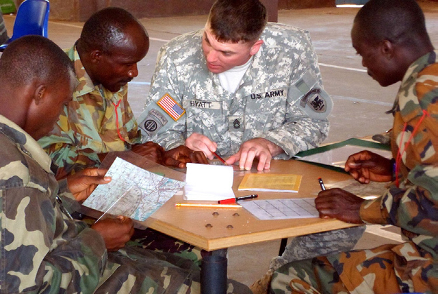 THE U.S. AFRICA CONTINGENCY OPERATIONS TRAINING AND ASSISTANCE (ACOTA) PROVIDES TRAINING FOR AFRICAN PEACEKEEPERS