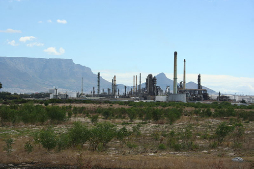 CHEVRON OIL REFINERY IN CAPE TOWN, SOUTH AFRICA