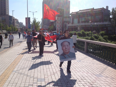 Anti-Japan demonstration by Chinese citizens in Shenyang on the 18th of September 2012