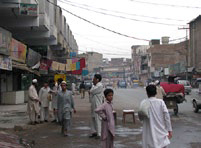 A street scene in Peshawar, Pakistan, the recruitment base for Soviet jihad
