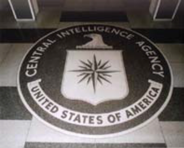 The Central Intelligence Agency's lobby seal.