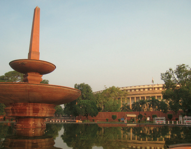 The Sansad Bhavan, the Indian House of Parliamnet, a tribute to the strength of the Indian central government