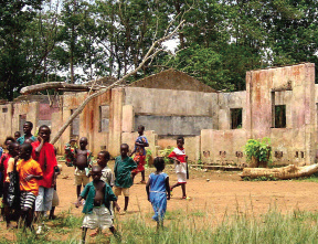 The RUF destroyed schools like this one in their campaign to