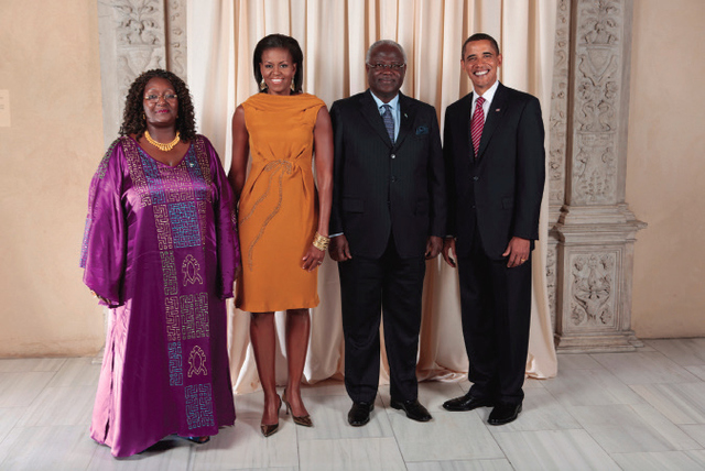 President Ernest Bai Koroma with US President Barack Obama: A clear example of Sierra Leone's Attempts to Establish democratic traditions