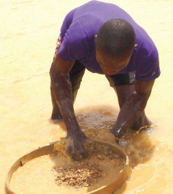 Alluvial mining remains a major source of hard currency earnings in Sierra Leone