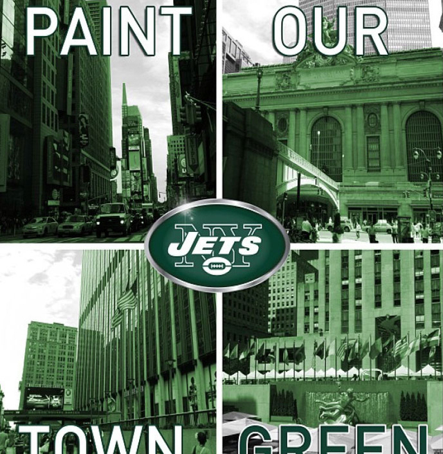 Figure 2. Jets Paint our Town Green Campaign