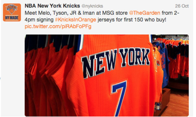 Figure 6. Example of #KnickinOrange Campaign