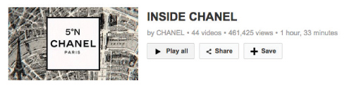"Figure 4. Screenshot taken from ""Inside Chanel"" YouTube playlist"
