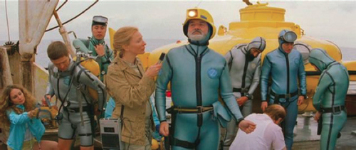 Figure 4. Steve Zissou with his fi lm crew.