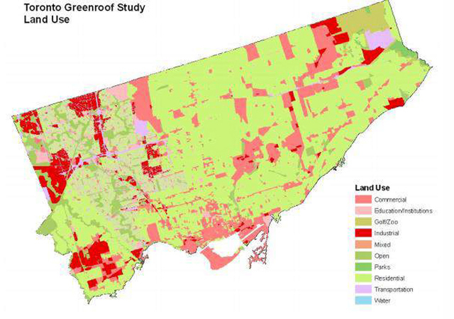 Figure 6 Determination of Land use in Toronto (Banting et al., 2005)