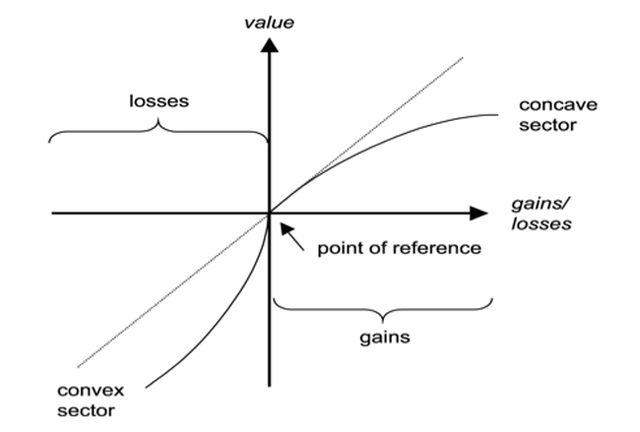 Figure 1. Value Function of a Prospect Theory Model. Source: Jacob and Ehret 2006