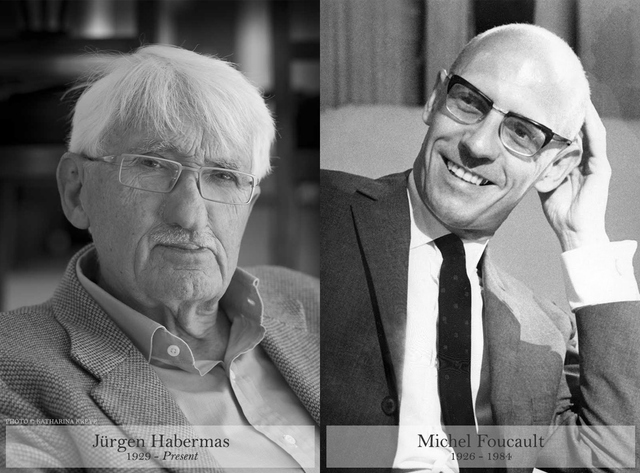 Jurgen Habermas and Michel Foucault