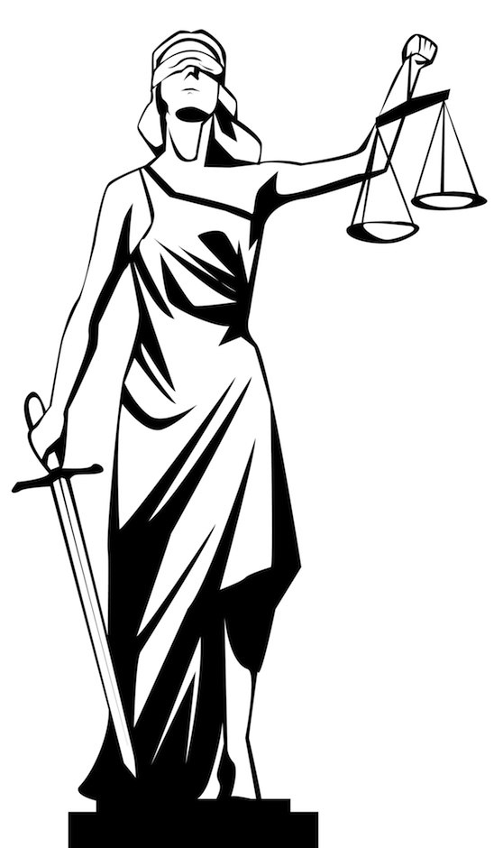 Attractive Lady Justice