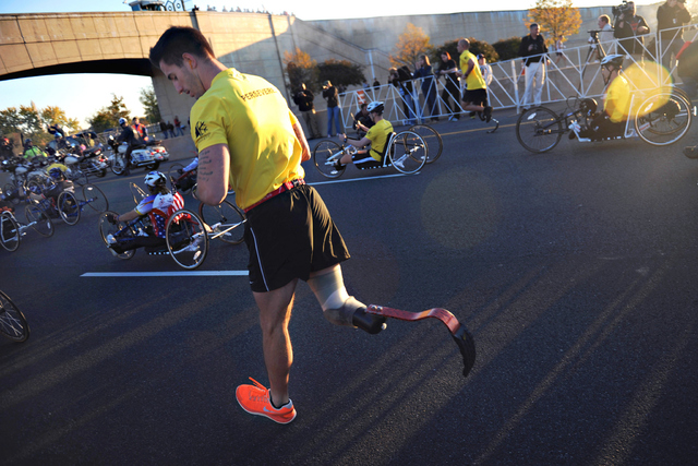 Wounded Warriors participate in the 2012 Army Ten Miler