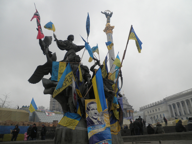 Maidan Protests in Independence Square, Kyiv, 19/12/13