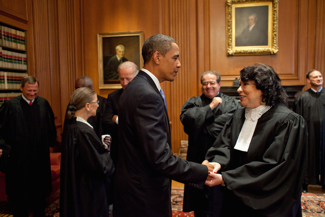 President Obama with Justice Sonia Sotomayor