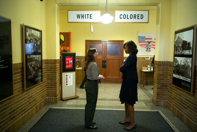 First Lady Michelle Obama at the Brown v. Board of Education National Historic Site