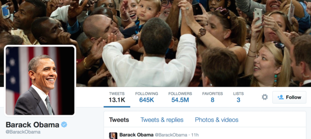 Barack Obama's Twitter Account
