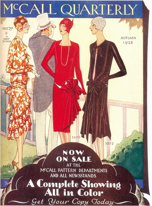 Advertisement depicting fashion in McCall Quarterly