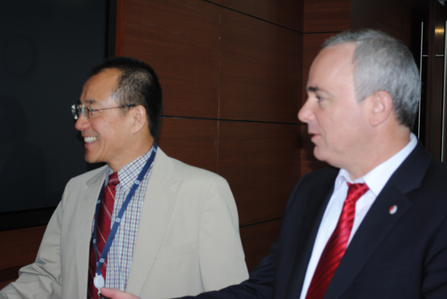 Gao Xiqing, the Vice Chairman and Chief Investment Officer at CIC, meets with members of Israel's Ministry of Finance.