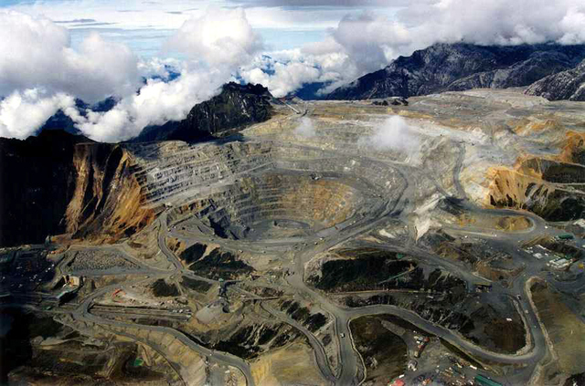 One of Freeport-McMoRan's Indonesian strip mines