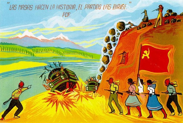 Poster of the Peruvian Shining Path Party