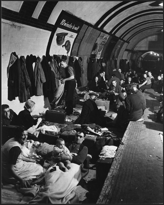 West End London Air Raid Shelter during World War II