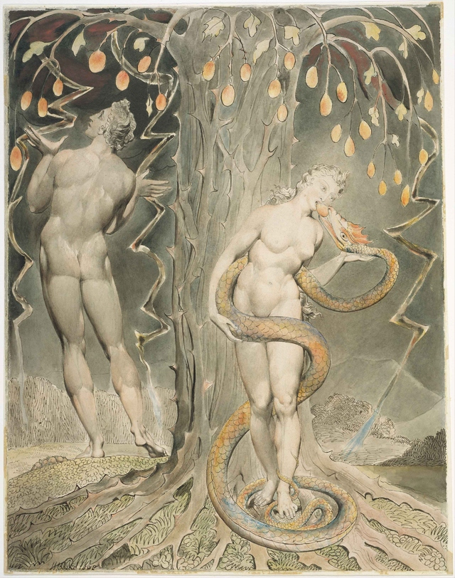 The Temptation and Fall of Eve by William Blake (1808)
