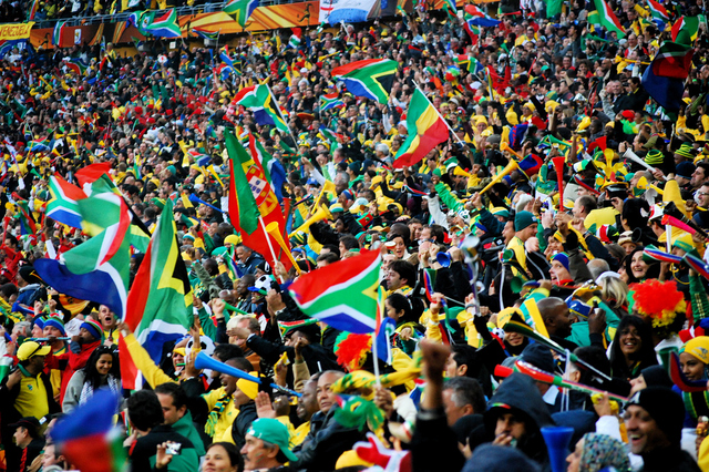 South Africa Fans Celebration at Soccer City