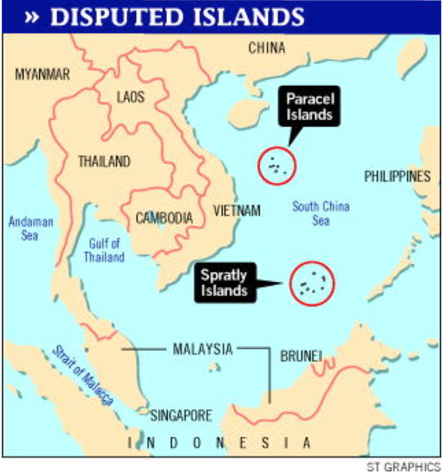 Disputed Islands in South China Sea