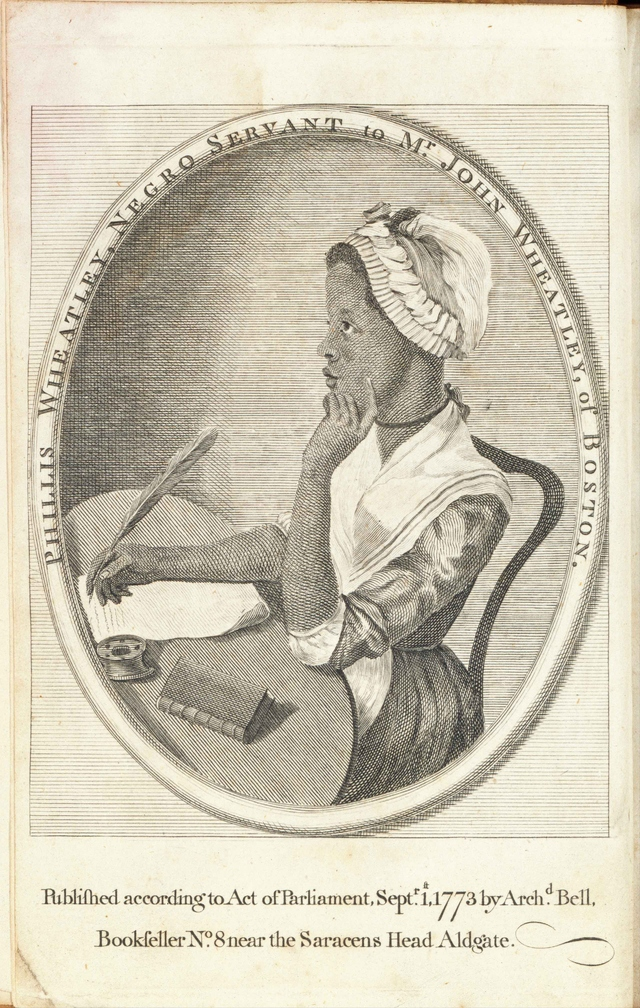 Depiction of Phillis Wheatley