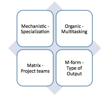 Chart 1: Types of Organizational Structures