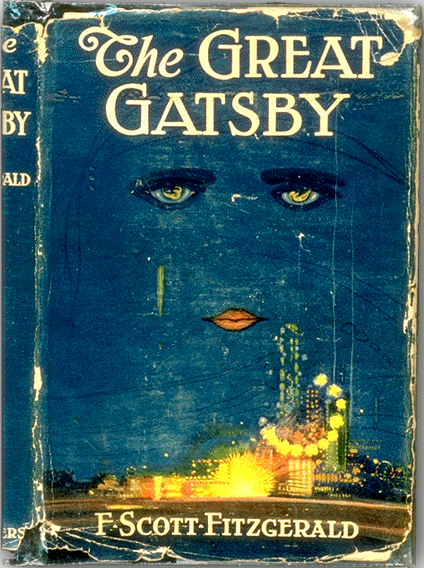 Cover of the first edition of The Great Gatsby