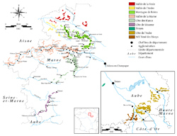 Wine-growing areas and wine villages of the Champagne region