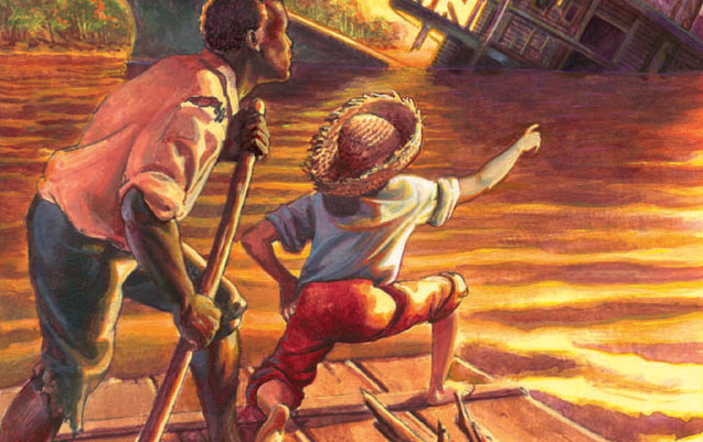 huckleberry finns vs. macbeth essay Free essay: mark twain's the adventures of huckleberry finn follows a young  boy named huck through his adventures down the mississippi river through the .
