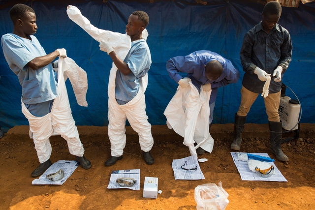 Health workers responding to west african ebola epidemic